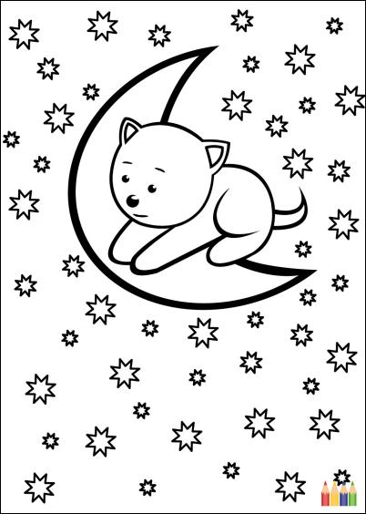 Cartes postales en ligne coloriage animaux - Chat a colorier en ligne ...