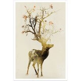 Poster Affiche Animaux Cerf Automne