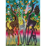 Poster Affiche Animaux Girafes Afrique