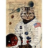 Poster Affiche Animaux Chat Astronaute