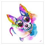 Poster Affiche Animaux Chien Chihuahua dessin