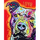 Poster Affiche Animaux Chien Pitbull