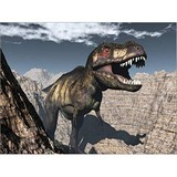 Poster Affiche Animaux Dinosaure T-rex canyon