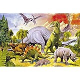 Poster Affiche Animaux Dinosaures Monde