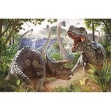 Poster Affiche Animaux Dinosaures T-rex Triceratops