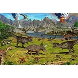 Poster Affiche Animaux Dinosaures Volcans