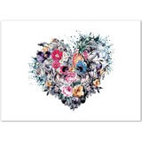 Poster Affiche Nature Fleurs Coeur Love forever