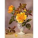Poster Affiche Nature Fleurs Roses orange