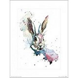 Poster Affiche Animaux Lapin Aquarelle