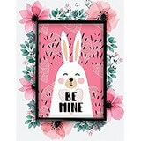 Poster Affiche Animaux Lapin blanc Be mine