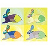 Poster Affiche Animaux Lapins Horloge