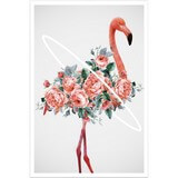 Poster Affiche Animaux Oiseaux Flamant Roses