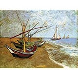 Poster Affiche Nature Plage Barques Van Gogh