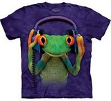 T-shirts Animaux Grenouille DJ