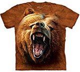 T-shirts Animaux Ours Grizzly