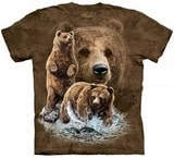T-shirts Animaux Ours bruns