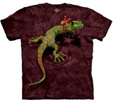T-shirts Animaux Reptile Gecko paix