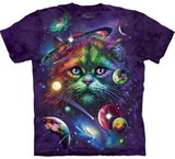 T-shirts Animaux Chat Espace