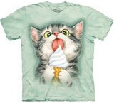T-shirts Animaux Chat Glace