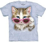 T-shirts Animaux Chat Lunettes