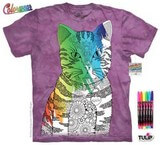 T-shirts Animaux Chat Coloriage