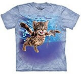 T-shirts Animaux Chat nageur