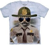 T-shirts Animaux Chat Policier