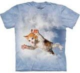 T-shirts Animaux Chat volant