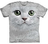 T-shirts Animaux Chat Yeux verts