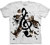 T-shirts Animaux Chat Musique
