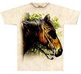 T-shirts Animaux Cheval brun