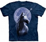 T-shirts Animaux Cheval Licorne Lune