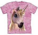 T-shirts Animaux Cheval Licorne rose