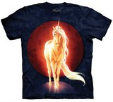 T-shirts Animaux Cheval Unicorne blanche