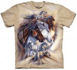 T-shirts Animaux Chevaux Dessin