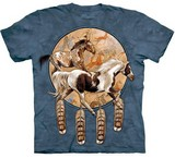 T-shirts Animaux Chevaux Attrape-rêves indien
