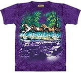 T-shirts Animaux Chevaux galop printemps