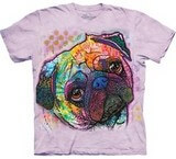 T-shirts Animaux Chien Carlin Couleurs