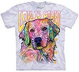 T-shirts Animaux Chien Golden Love Russo