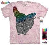 T-shirts Animaux Chien rose Coloriage
