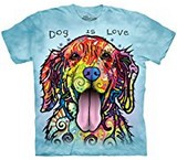 T-shirts Animaux Chien Amour Russo
