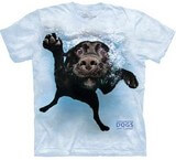 T-shirts Animaux Chien Nage