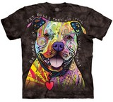 T-shirts Animaux Chien Pitbull Attention Russo