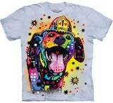 T-shirts Animaux Chien Pompier Russo