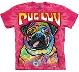 T-shirts Animaux Chien Carlin Pug Luv Russo