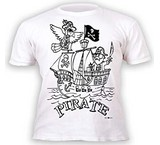 T-shirts Animaux Coloriage Perroquet Pirate enfant