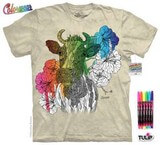 T-shirts Animaux Coloriage Vache Adulte