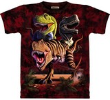 T-shirts Dino Tyrannosaures Rex Groupe