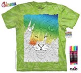 T-shirts Félins Lion Coloriage