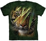 T-shirts Animaux Félins Tigre Herbe